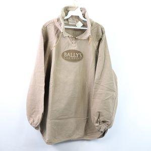 90s New Mens L/XL Ball's Las Vegas Sweatshirt Tan
